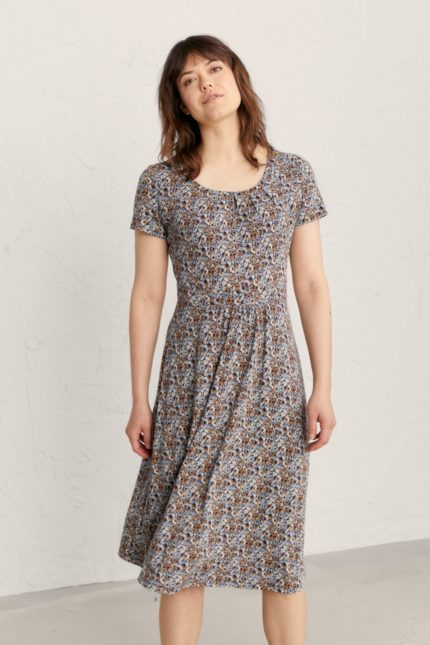 Seasalt Cornwall bambusové šaty crebawthan petal stamp