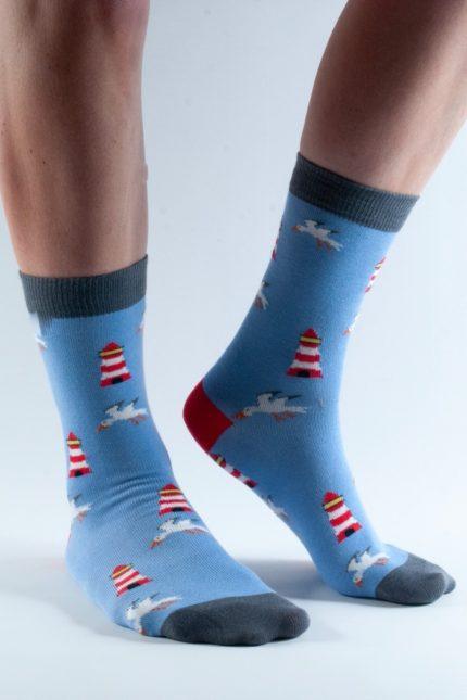 Doris and Dude dámské ponožky blue lighthouse