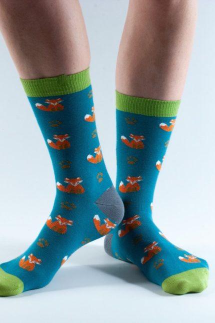 Doris and Dude dámské ponožky teal fox