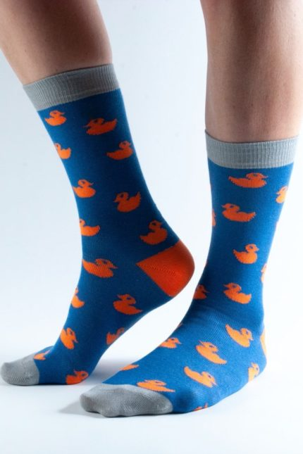 Doris and Dude dámské ponožky blue ducks