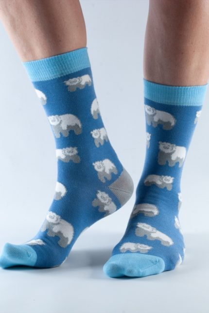 Doris and Dude dámské ponožky blue polar bear
