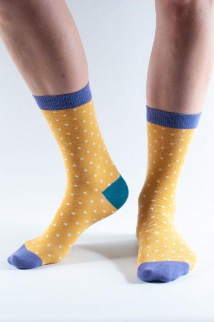Doris and Dude dámské ponožky gold spot