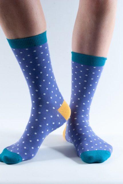 Doris and Dude dámské ponožky purple spot