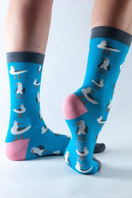 Doris and Dude dámské ponožky blue seagull
