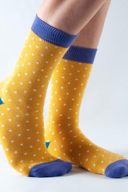 Doris and Dude dámské teplé ponožky toast gold spot