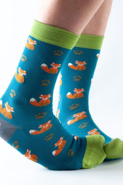 Doris and Dude dámské ponožky easy fit teal fox