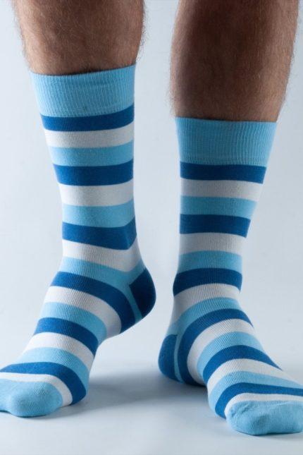 Doris and Dude pánské ponožky blue stripes
