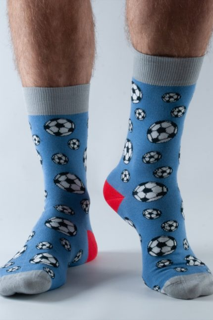Doris and Dude pánské ponožky blue football