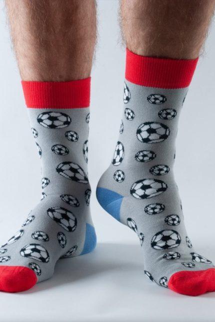 Doris and Dude pánské ponožky grey football