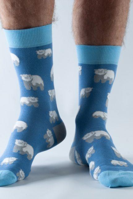 Doris and Dude pánské ponožky blue polar bear