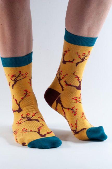Doris and Dude dámské ponožky gold tree