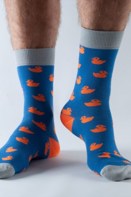 Doris and Dude pánské ponožky blue ducks