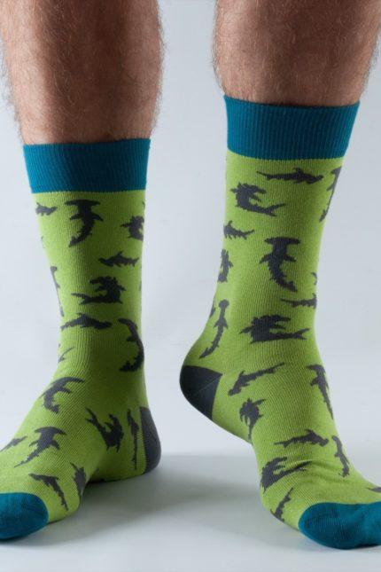 Doris and Dude pánské ponožky lime hammerhead
