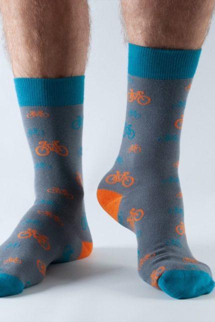 Doris and Dude pánské ponožky dark grey bike