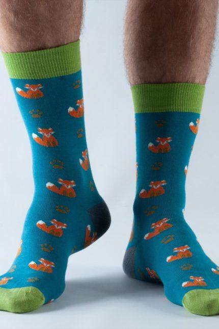 Doris and Dude pánské ponožky teal fox