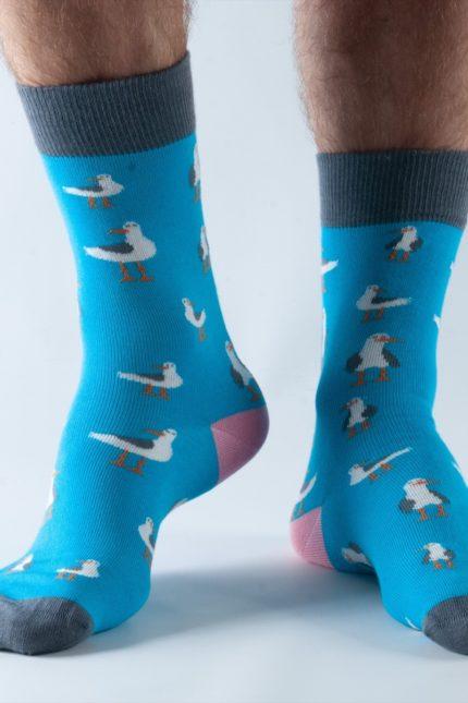 Doris and Dude pánské ponožky blue seagull
