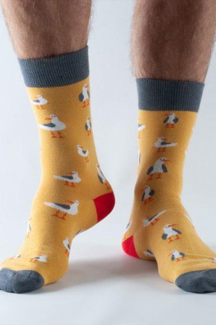 Doris and Dude pánské ponožky gold seagull