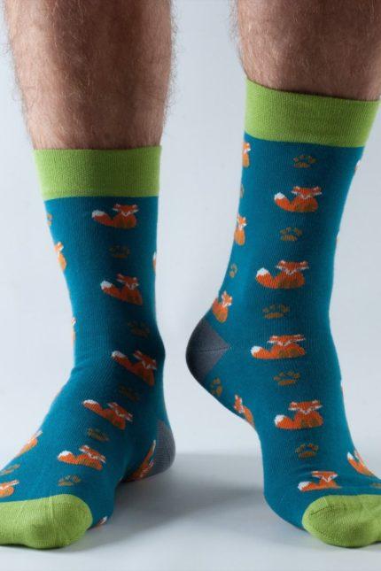 Doris and Dude pánské ponožky easy fit teal fox