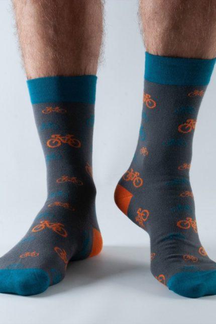 Doris and Dude pánské ponožky easy fit dark grey bike