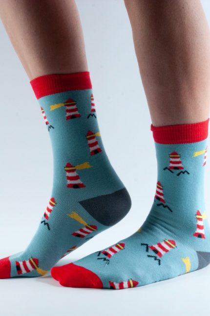 Doris and Dude dámské ponožky green lighthouse