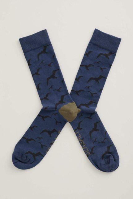 Seasalt Cornwall pánské ponožky arty swept in dark