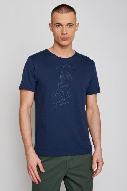 Greenbomb tričko nature lone modré