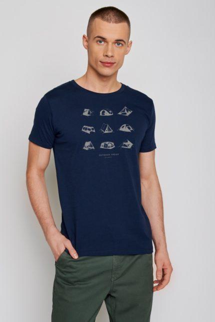 Greenbomb tričko outdoor freak modré