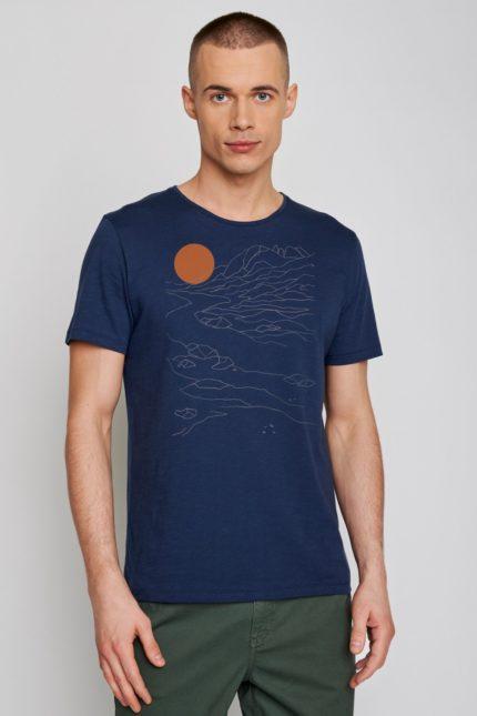 Greenbomb tričko nature sunset modré
