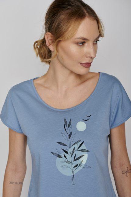 Greenbomb tričko plant sea modré
