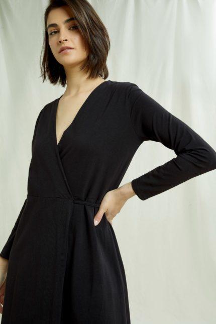 People Tree Šaty mathilde černé z bio bavlny