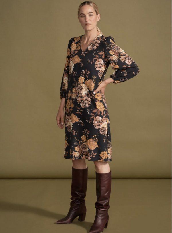 rosetti peasant sleeve dress
