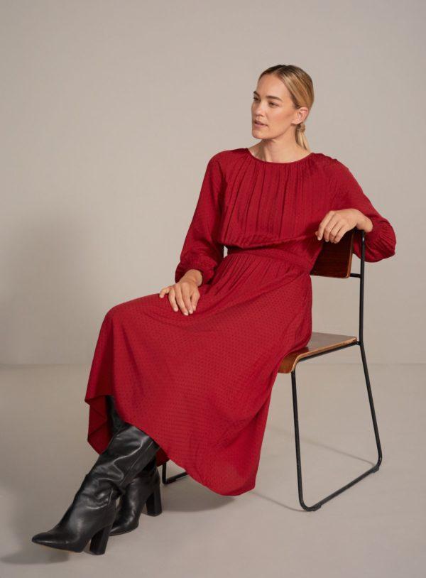 Thought Šaty rosetti z bio bavlny