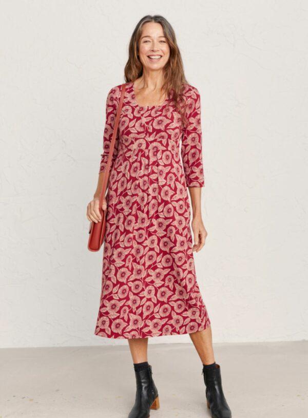 Seed Packet Dress - Printed Blooms Dahlia - 2