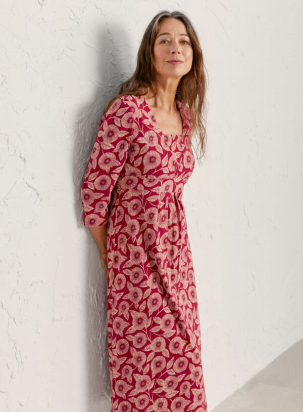 Seed Packet Dress - Printed Blooms Dahlia - 3