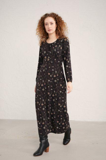 Seasalt Cornwall bambusové šaty bluebell glade onyx